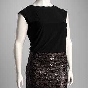 Jessica Howard black beaded dress